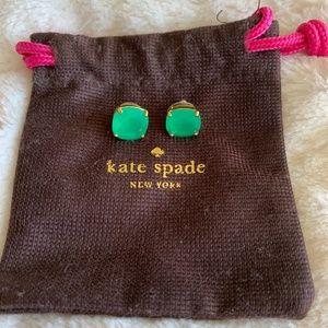 Kate Spade Green Studs